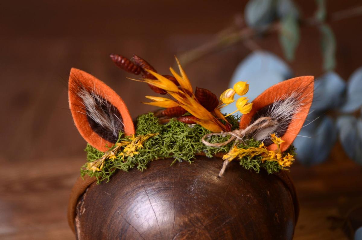 Tocado de fantas a con orejitas naranja y amarillo - Amarillo naranja ...
