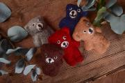 Pack de cinco ositos de peluche